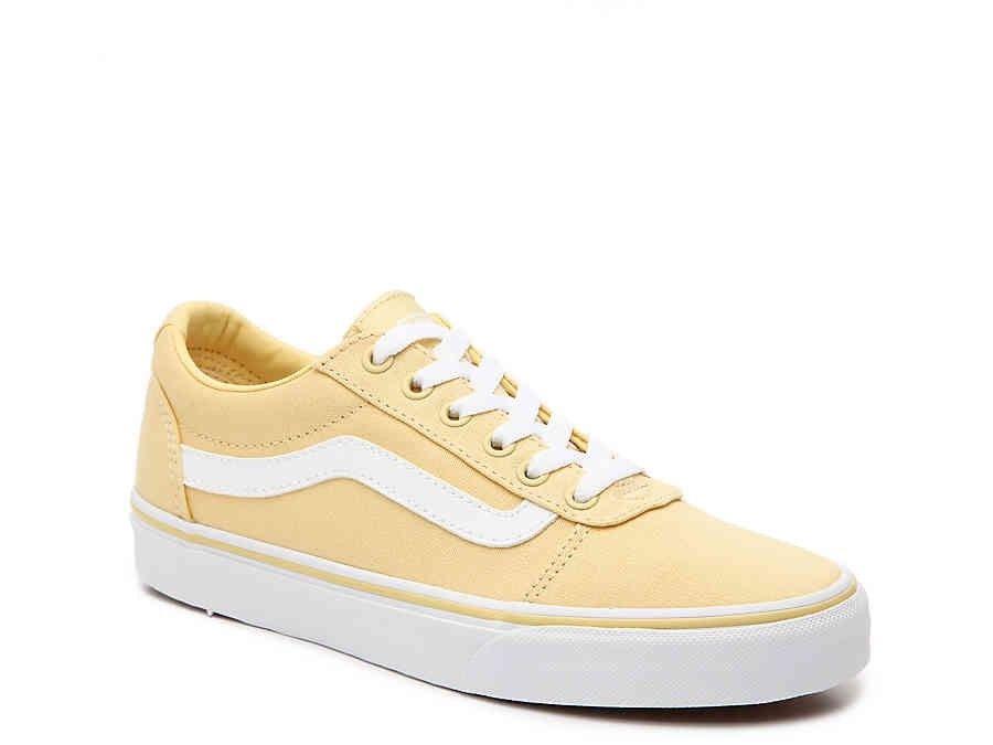 b9bca2ae1e DSW Vans Ward Lo Sneaker Pale Yellow