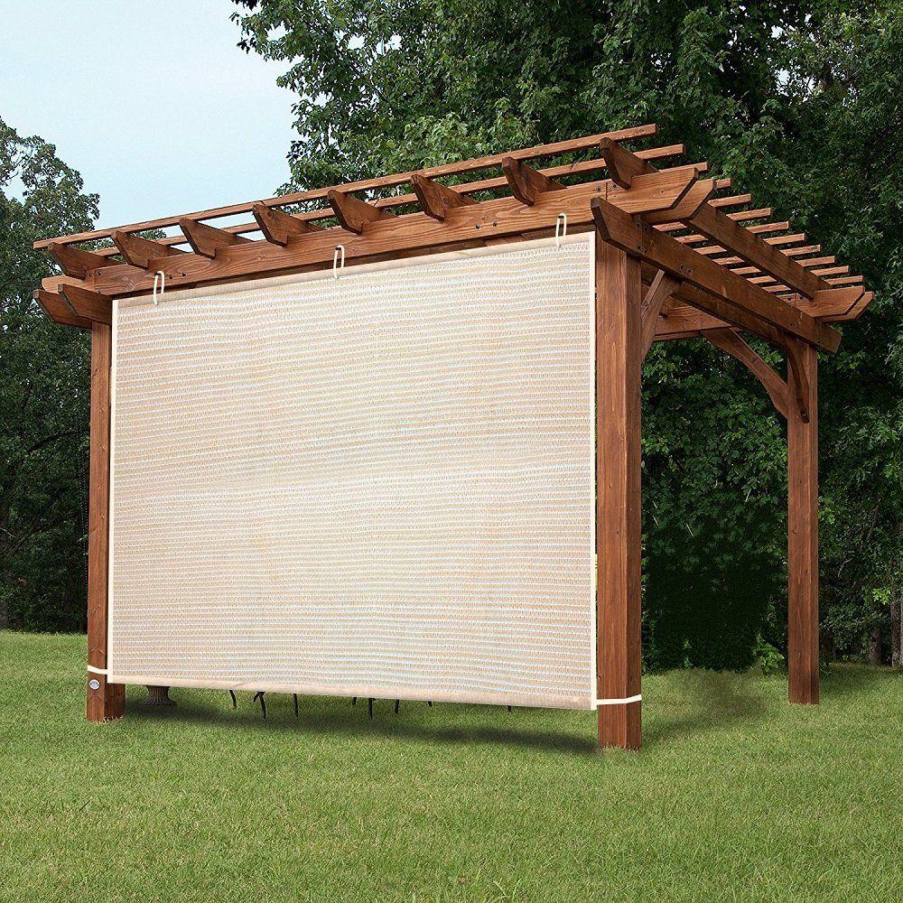 Ez2hang 5x5ft Garden Shade Fabric Adjustable Vertical Side Wall Panel For Patio Pergola Window Wheat Walmart Com Outdoor Pergola Outdoor Shade Patio Shade