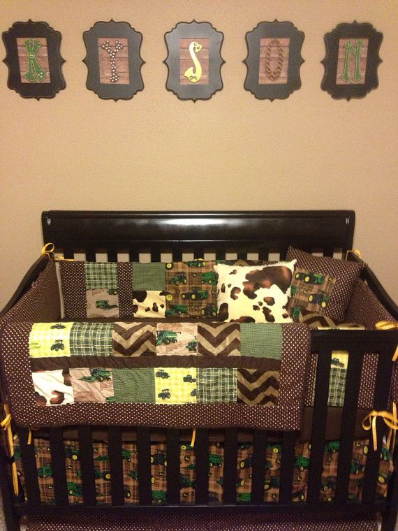 Custom John Deere Nursery Bedding Made By Tickledpinkquilts