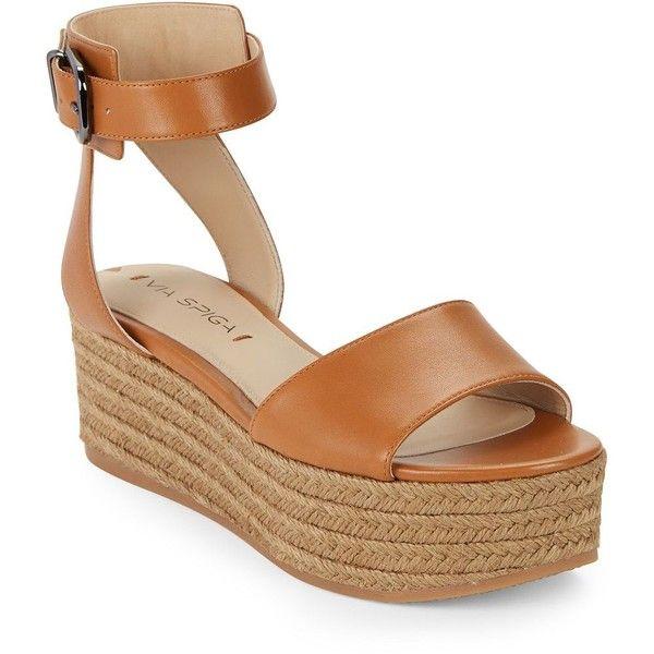 Via Spiga Nemy Espadrille Platform Sandals ($65) ❤ liked on Polyvore  featuring shoes,