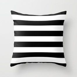 Stripe Black White Horizontal Throw Pillow Stripe Throw Pillow Black Throw Pillows White Throw Pillows