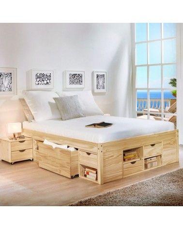 Photo of Contenitore matrimoniale Slide bianco o pino naturale