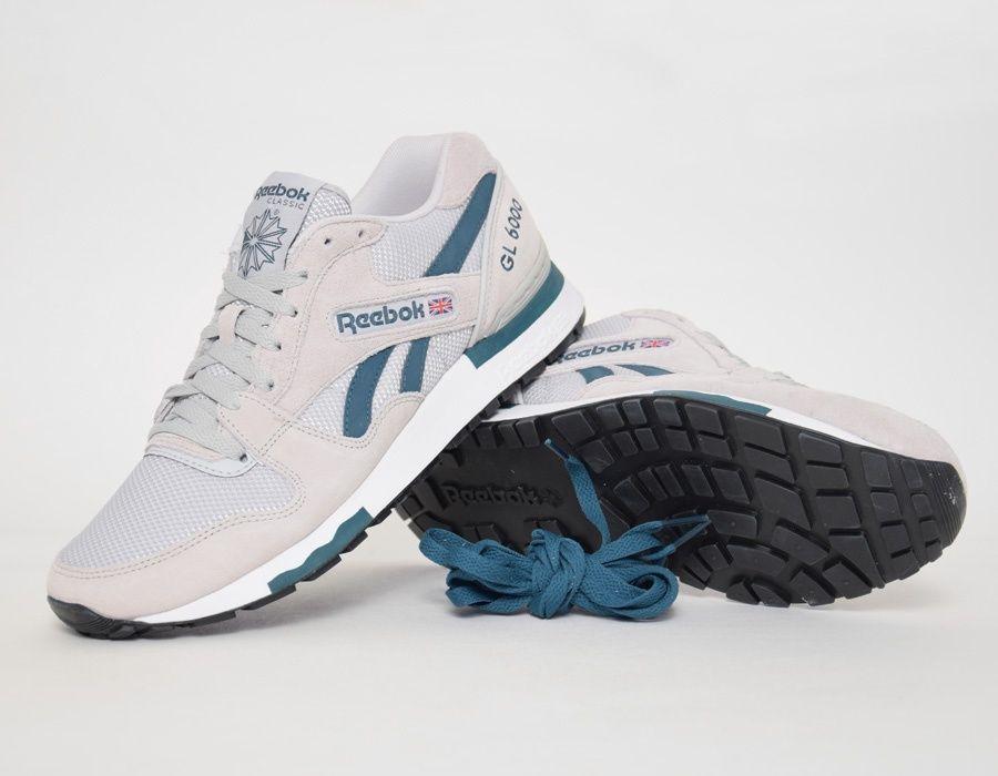finest selection fb297 80b4f  Reebok GL 6000 Grey Green  sneakers