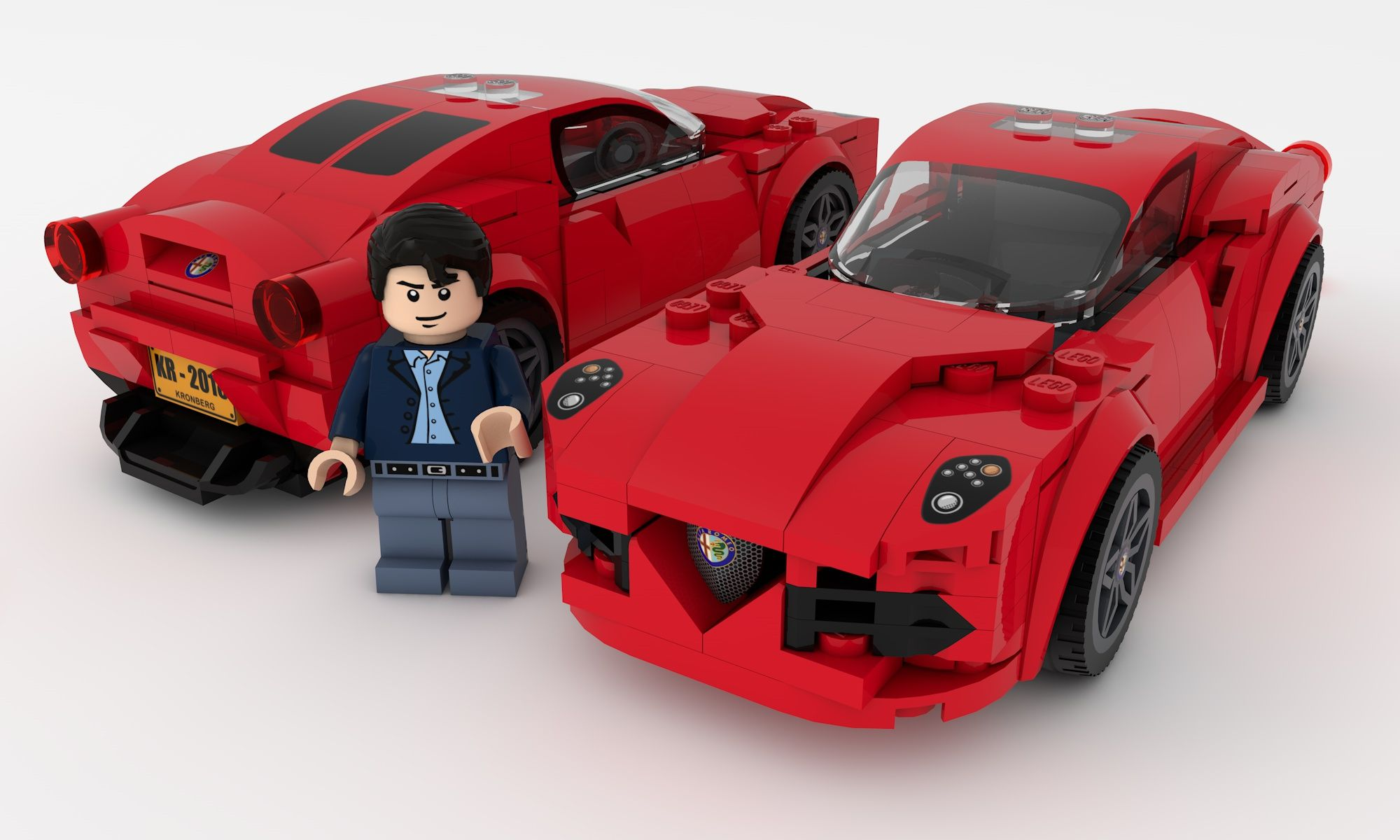Lego Moc Alfa Romeo 4c Lego Wheels Lego Lego Cars