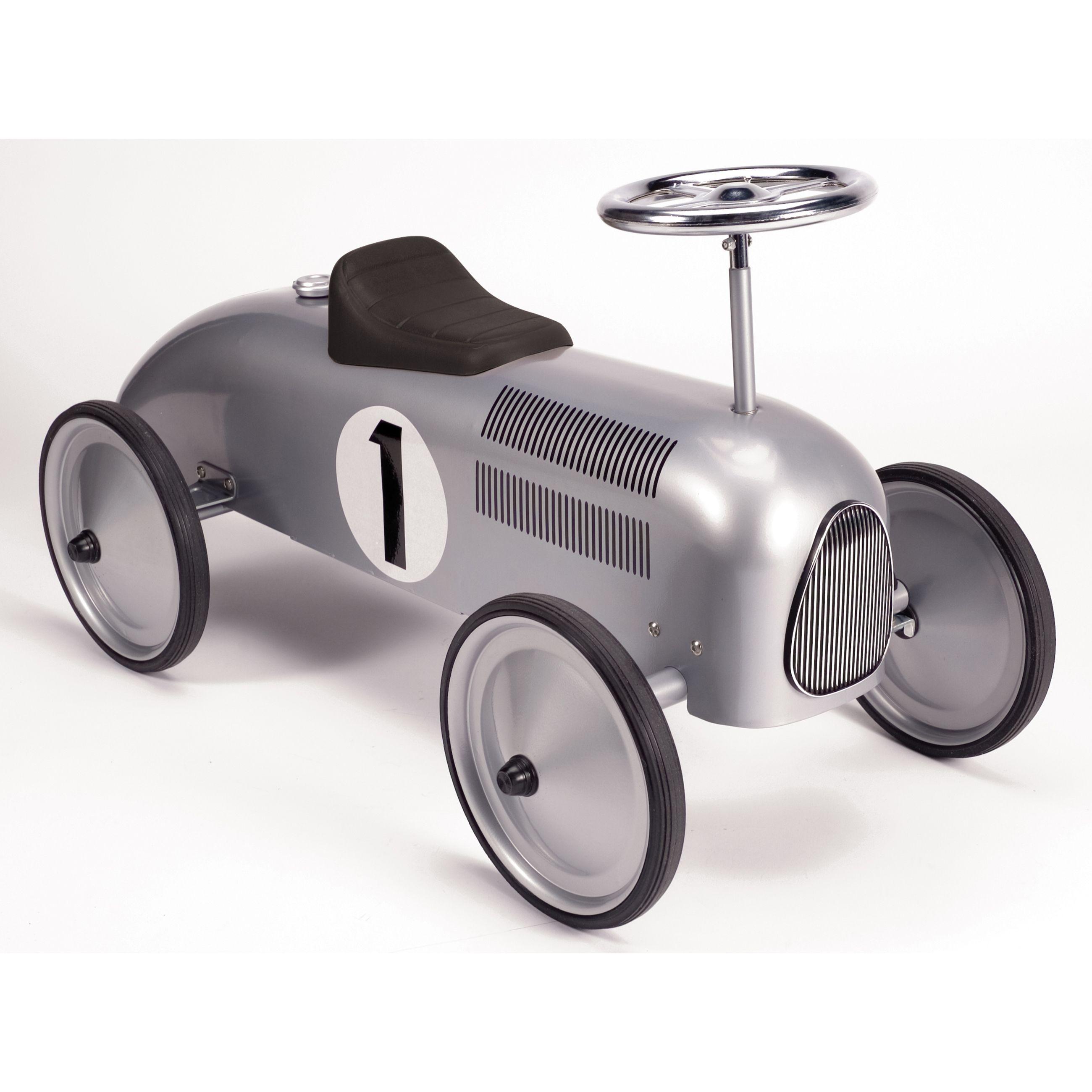 Schylling Speedster Silver Metal Retro Race Ride On G019649220816 Multicolor Car Nursery Ride On Toys Kids Furniture