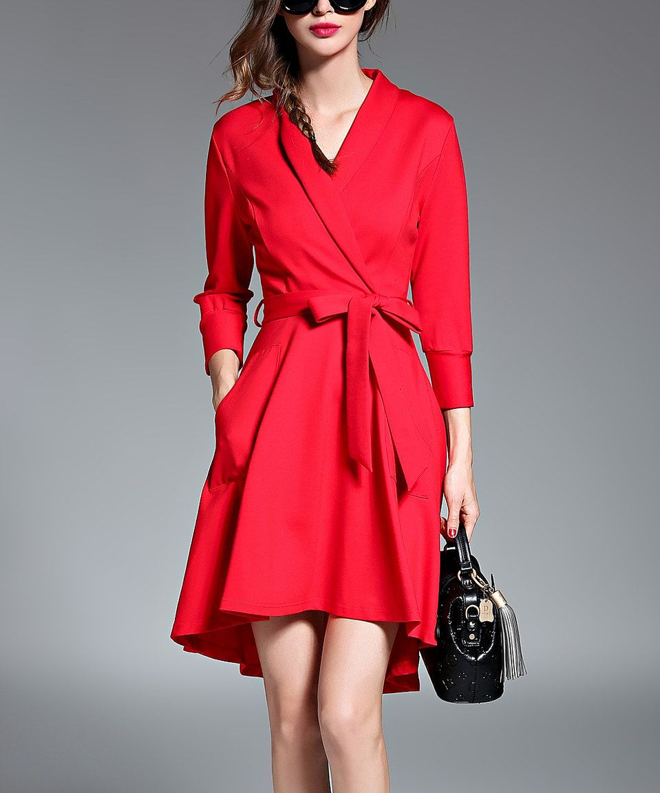 Another great find on zulily red hilow wrap dress by coeur de