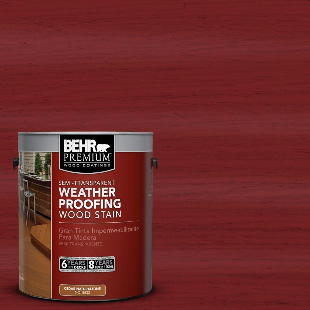 St 112 Barn Red Semi Transpa Weatherproofing Wood Stain