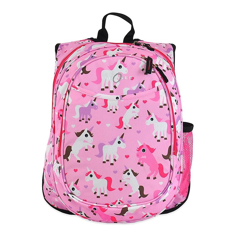 Obersee Pre-School All-In-One Unicorn Backpack With Cooler In Pink