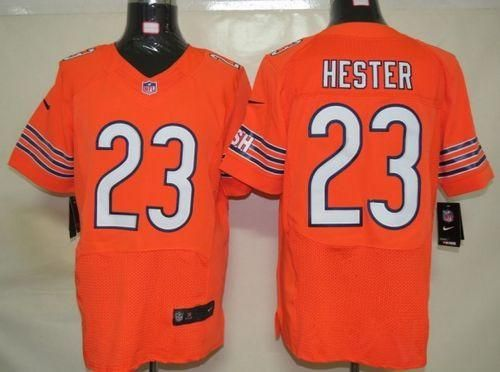 Nike Bears  23 Devin Hester Orange Alternate Mens NFL Elite Jersey And   Broncos Demaryius Thomas 88 jersey fe7ba0fbe