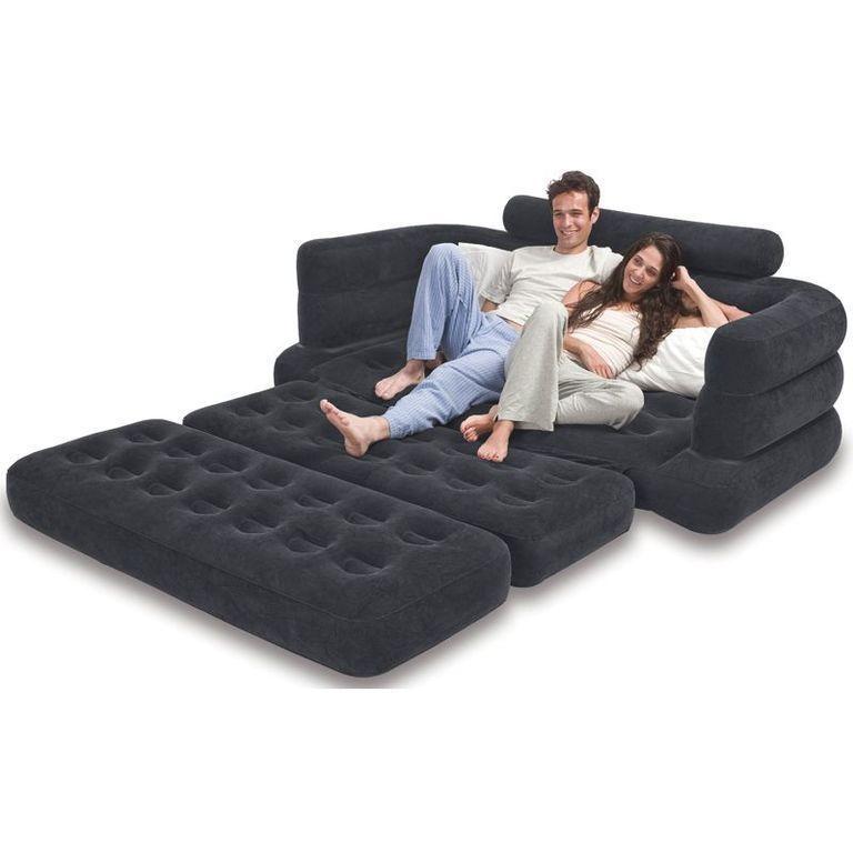Inflatable Mattress Pump Intex Air Sofa Pull Out Queen Bed Sleeper