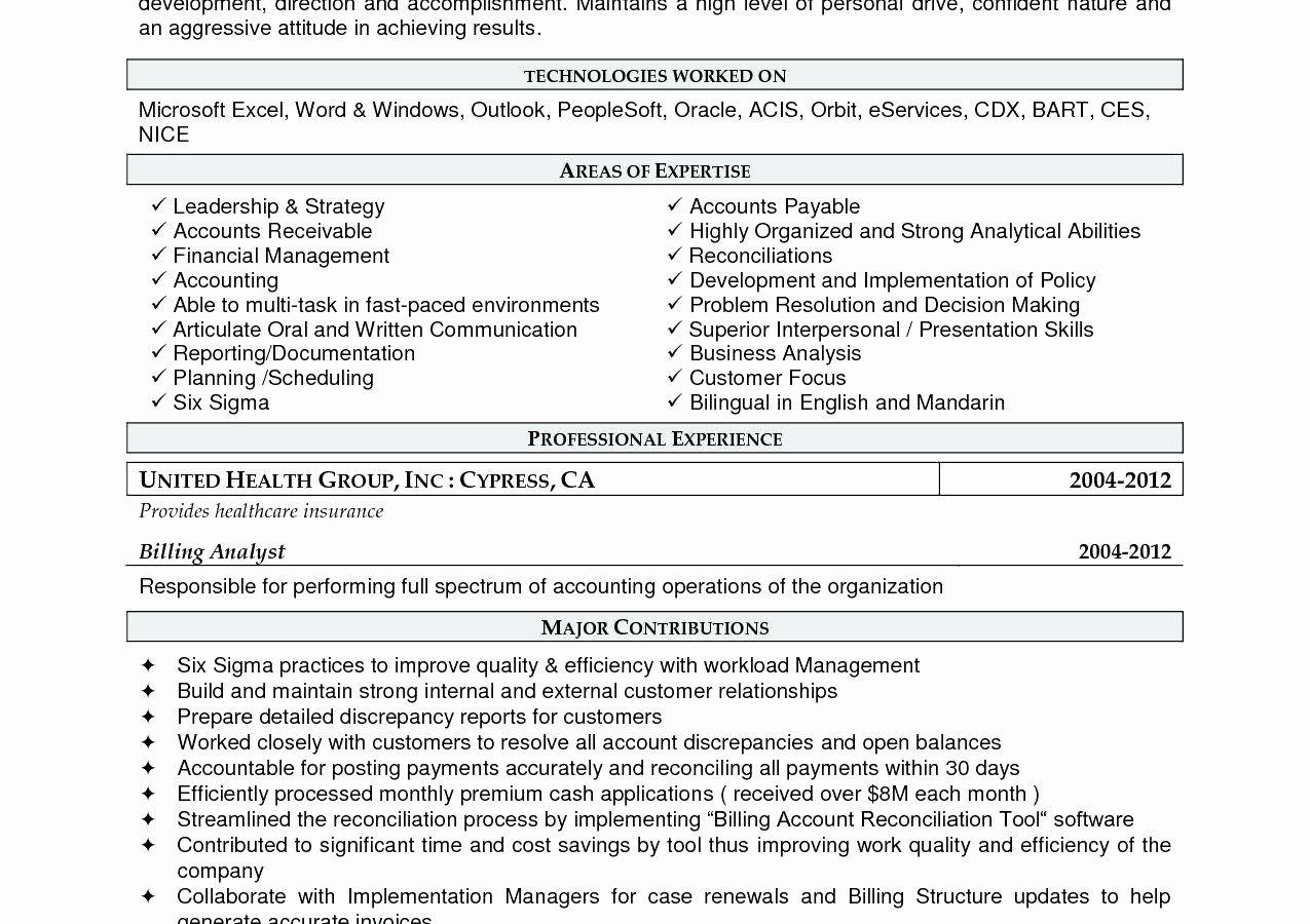 Accounts Payable Job Description Resume Fresh 10 Account