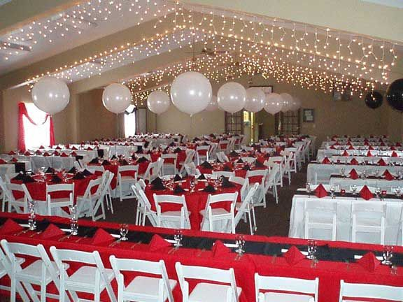 Black And White And Red Wedding Theme