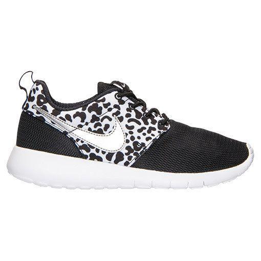 Blinged Black / Silver Cheetah Girls' / Women's Nike Roshe Run