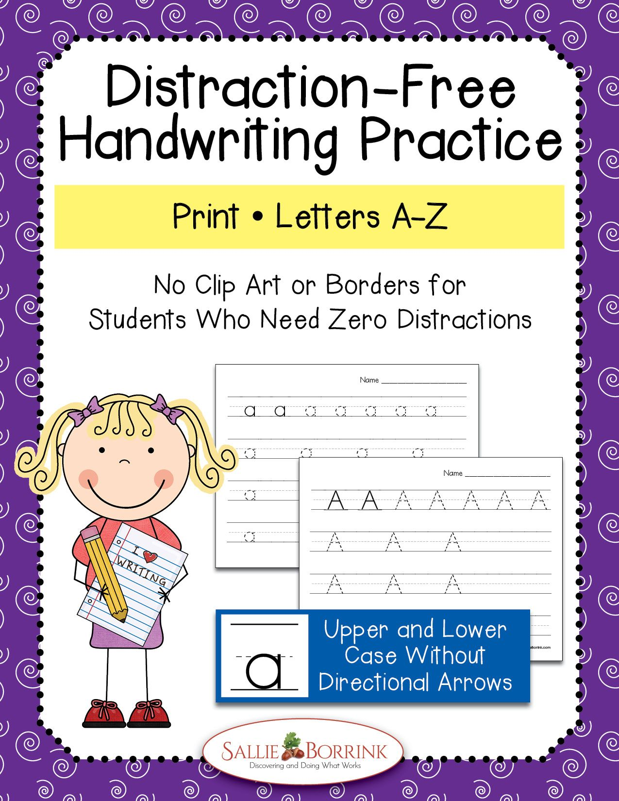 Distraction Free Print Handwriting Practice