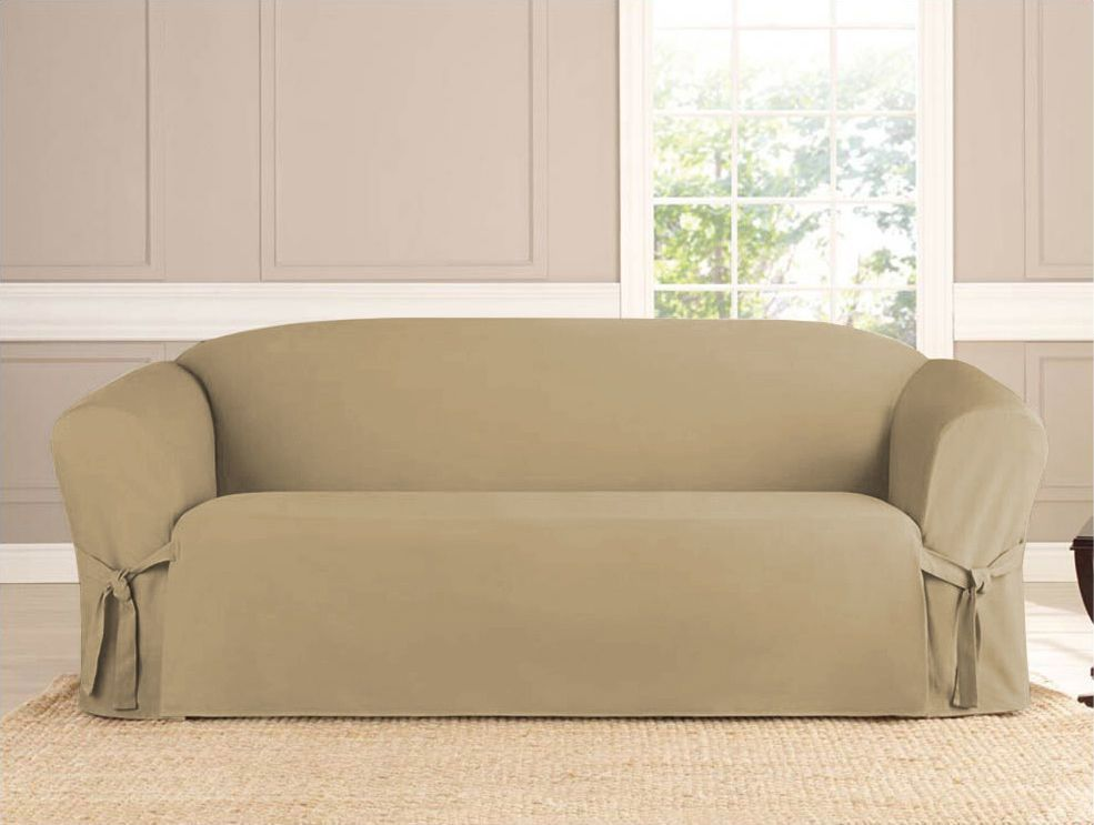 Micro Suede Slipcover Taupe 3 Sizes Slipcovered Sofa Furniture Slipcovers Love Seat