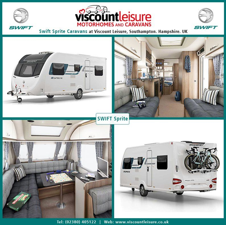 The New 2019 Swift Sprite Caravan Is Now Available At Viscount