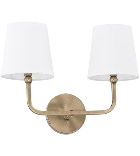 Capital Lighting 119321AD-674 Dawson 2 Light 16 inch Aged Brass ...