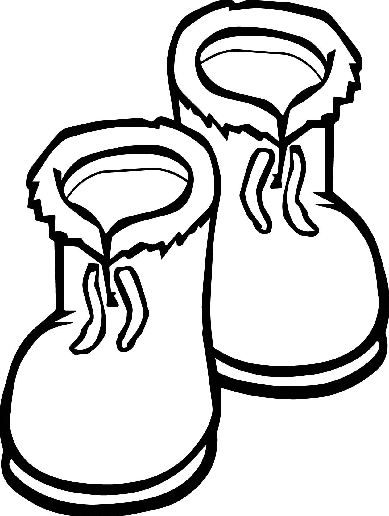Winter Shoes Coloring Page