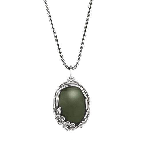 68709fc1b Pandora Garden goddess with Nephrite Jade & CZ Nest Necklace RETIRED ONLY 1  LEFT!