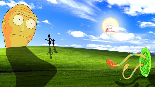 Rick And Morty Windows Xp Wallpaper