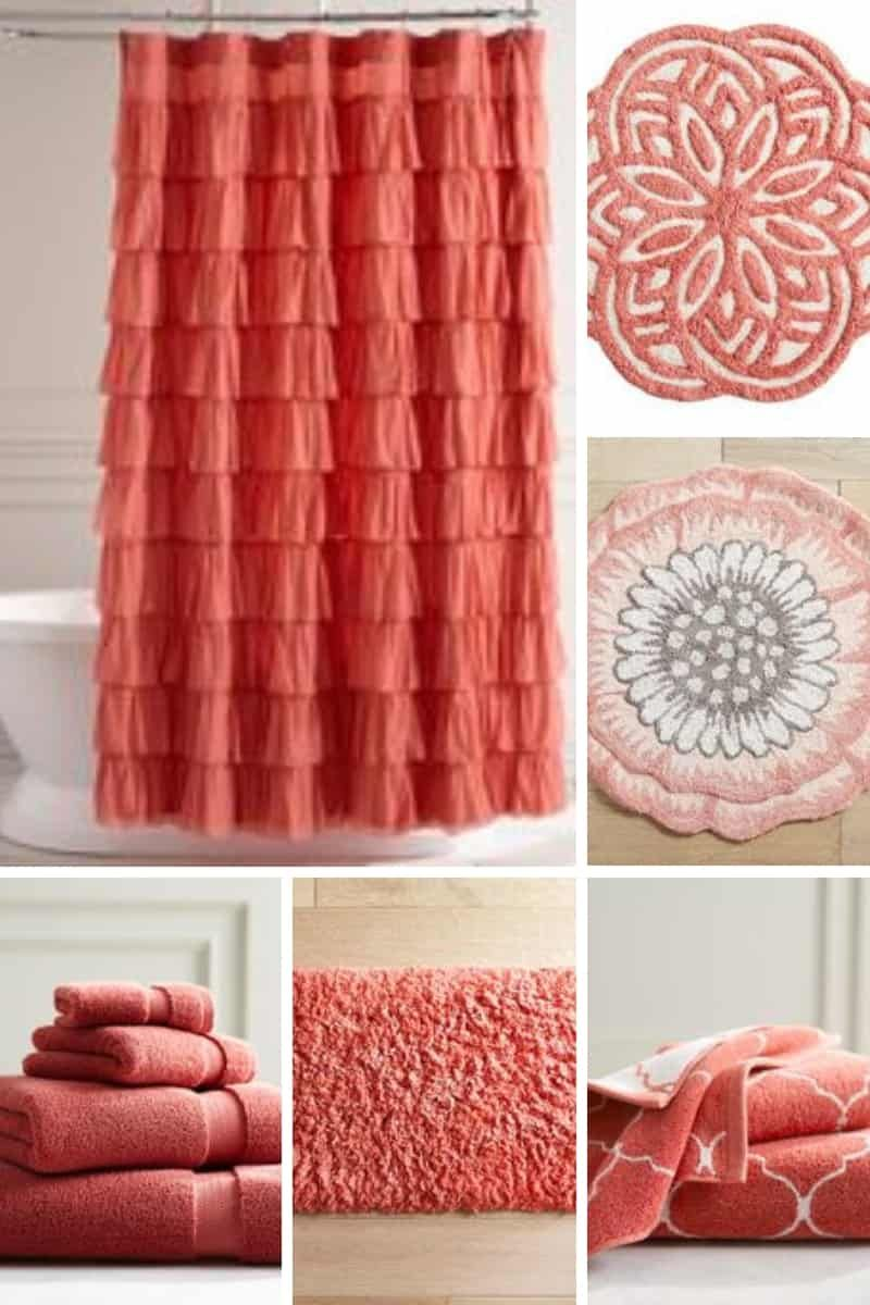 Refresh Your Bed And Bath With Everyone S New Fave Coral Peach Color In 2020 Bathroom Decor Colors Coral Bathroom Decor Coral Decor