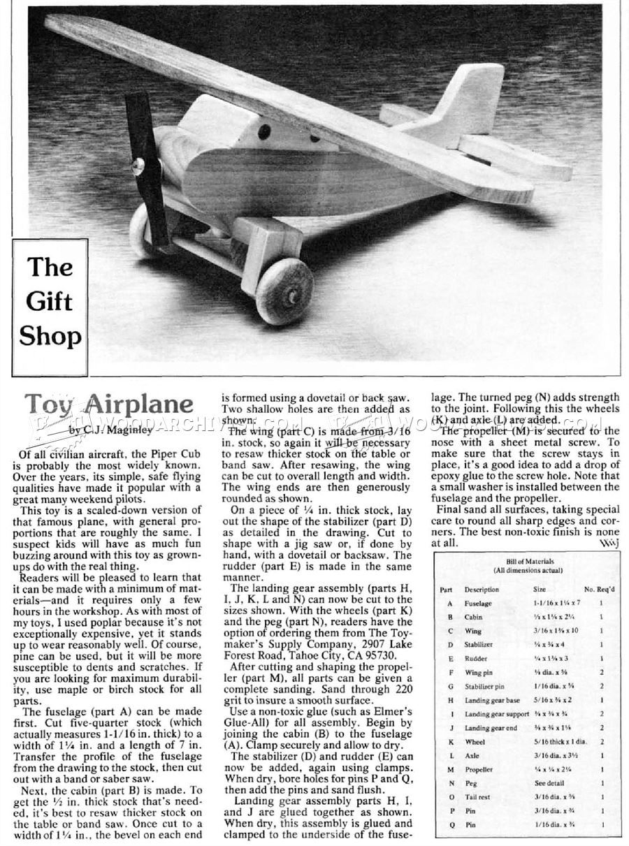 wooden airplane plans - wooden toy plans | plane | wooden