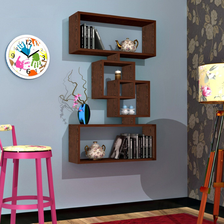 harmony mensola moderna da muro -mensola parete - mensola libreria ... - Pensile Soggiorno Wenge