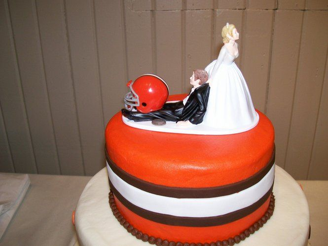 Browns Themed Wedding Cake Cleveland