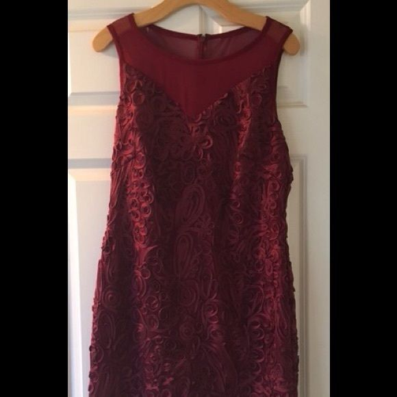 Marc New York Cocktail Dress- NWT Gorgeous wine colored cocktail dress. Illusion yoke and covered with beautiful soutache. Size 12. Purchased for an event I didn't get to attend, so it has never been worn. Tags still intact. Get ready for the upcoming holiday party season! Dresses