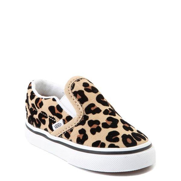 Vans Slip On Skate Shoe Baby Toddler Leopard in 2020