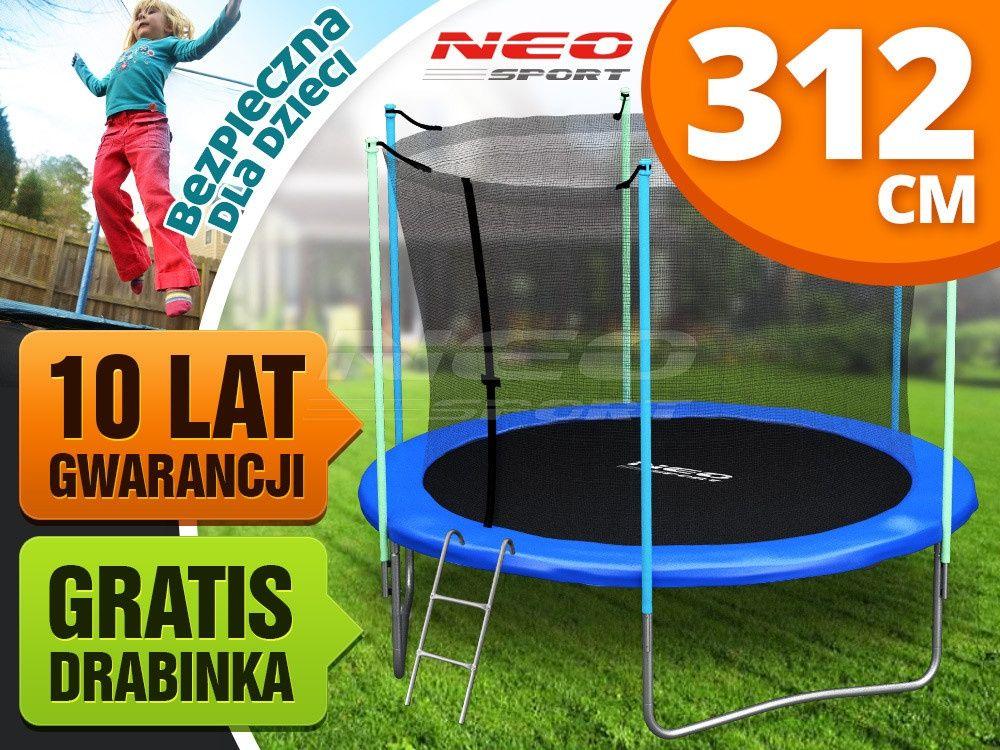 Trampolina Ogrodowa 10ft 312cm Z Siatka Wewnetrzna I Drabinka Neo Sport Sports Lat