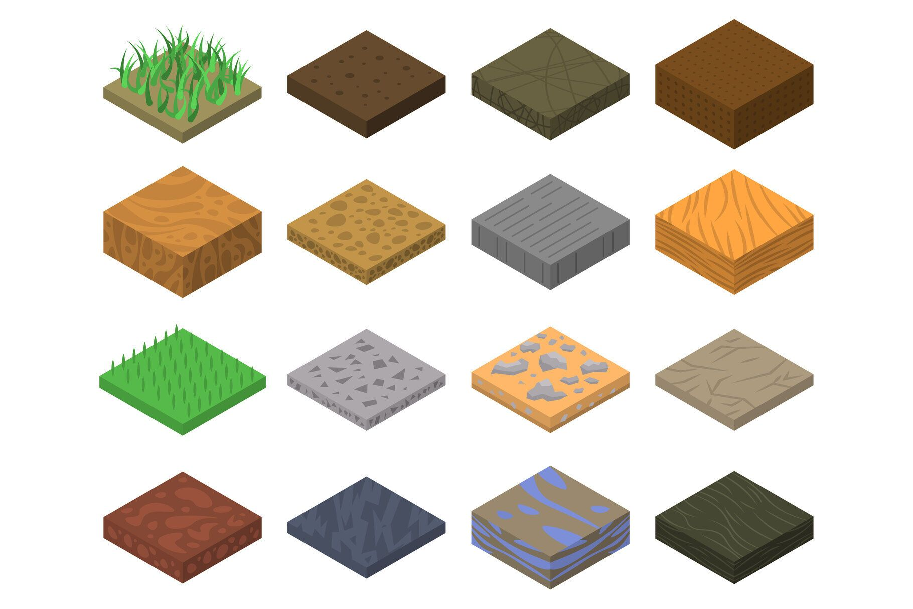 Soil Icons Set Isometric Style By Ylivdesign