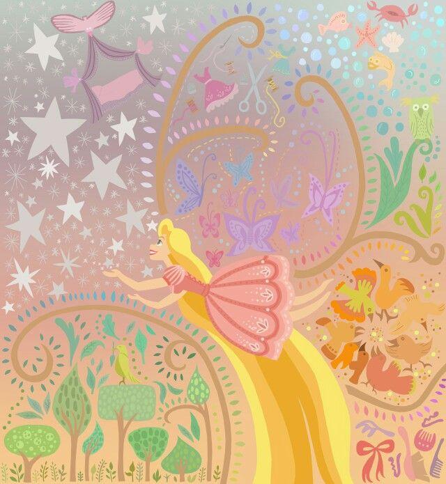 Rapunzel Mural Inspired By Claire Keane By Courtney Myers Disney Rapunzel Disney Wallpaper Disney Art