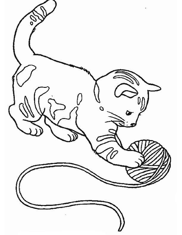 Dessin pinterest coloriage chat - Coloriage de chat en ligne ...