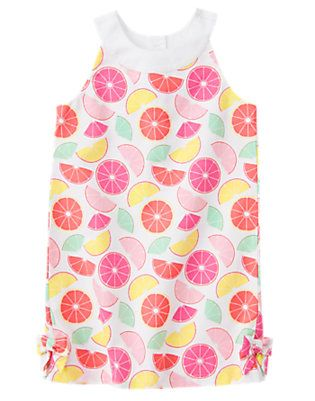 Gymboree MIX N MATCH Citrus Fruit Smocked Poplin Bow Sundress Baby Dress Set 12