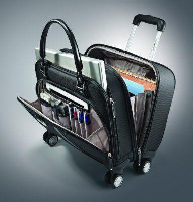 Samsonite Luggage Women S Spinner Mobile Office Black One