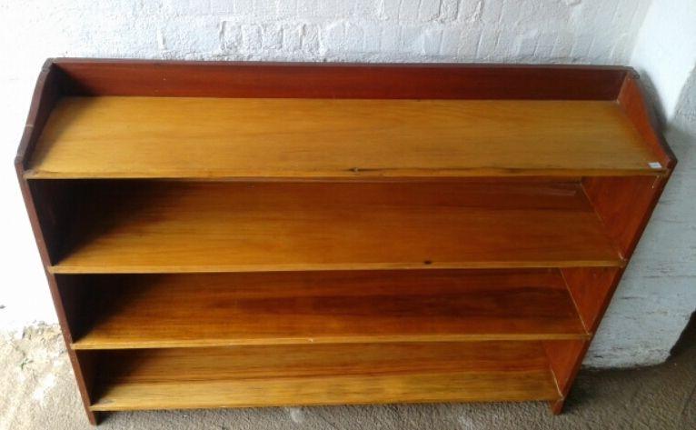 Wood Shelves Blond Kiaat Also Known As African Teak Enclosed By A Burmese Frame Finish Varnish Bookshelf Details Open