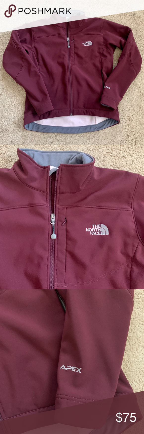The North Face Maroon Apex Jacket North Face Jacket Clothes Design Jackets [ 1740 x 580 Pixel ]