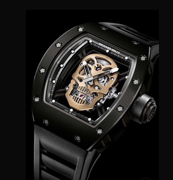 Richard Mille [ONLY 1 BRAND NEW] RM 52-01 Tourbillon Skull Nano Ceramique LIMITED 30 PIECE (Retail:US$720,000) ~ Exclusive Offer: HK$4,480,000.
