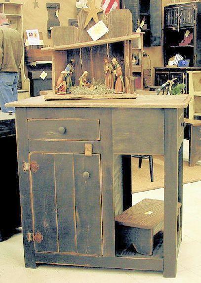 Primitive Kitchen Islands rustic primitive wooden items | quality arts and crafts web sites