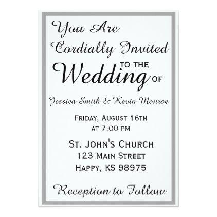 Classic Black White Invitation Suite Zazzle Com Wedding
