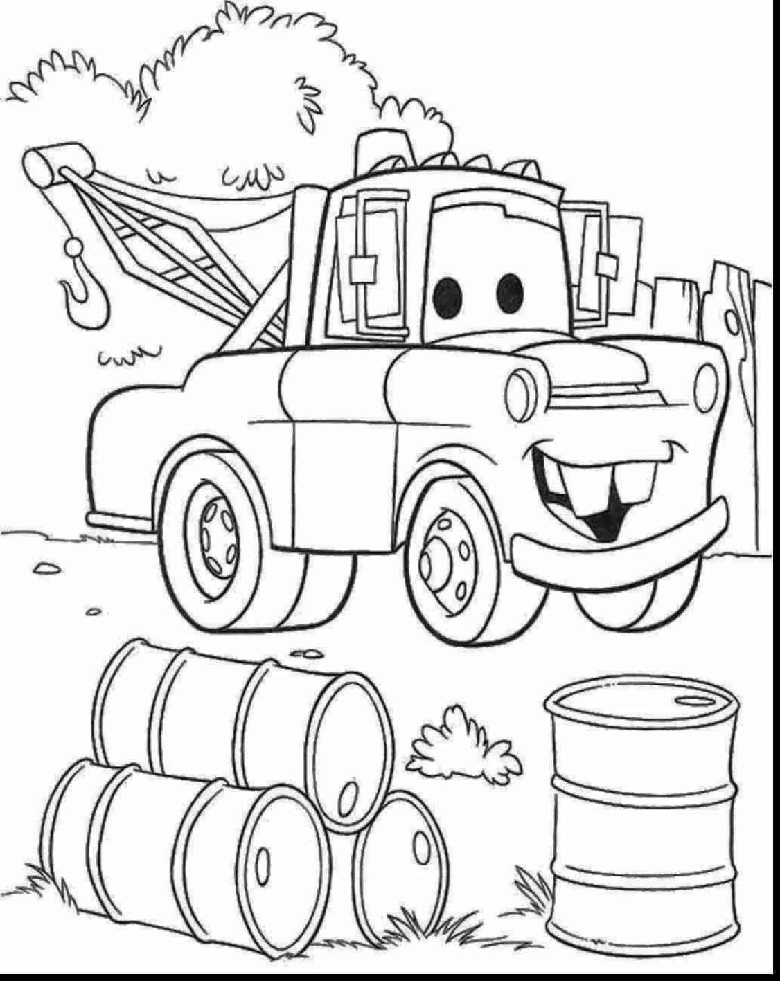 Disney Cars Mater Coloring Pages To Amusing Draw Page Fantastic Ar