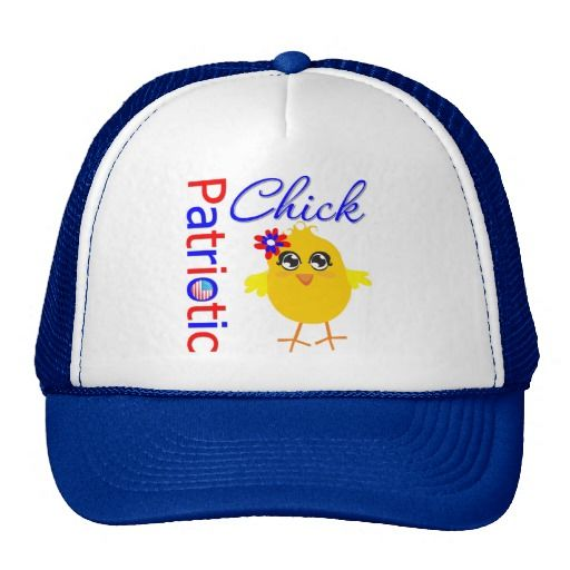 Patriotic USA Chick Mesh Hat by www.allaboutchick.com