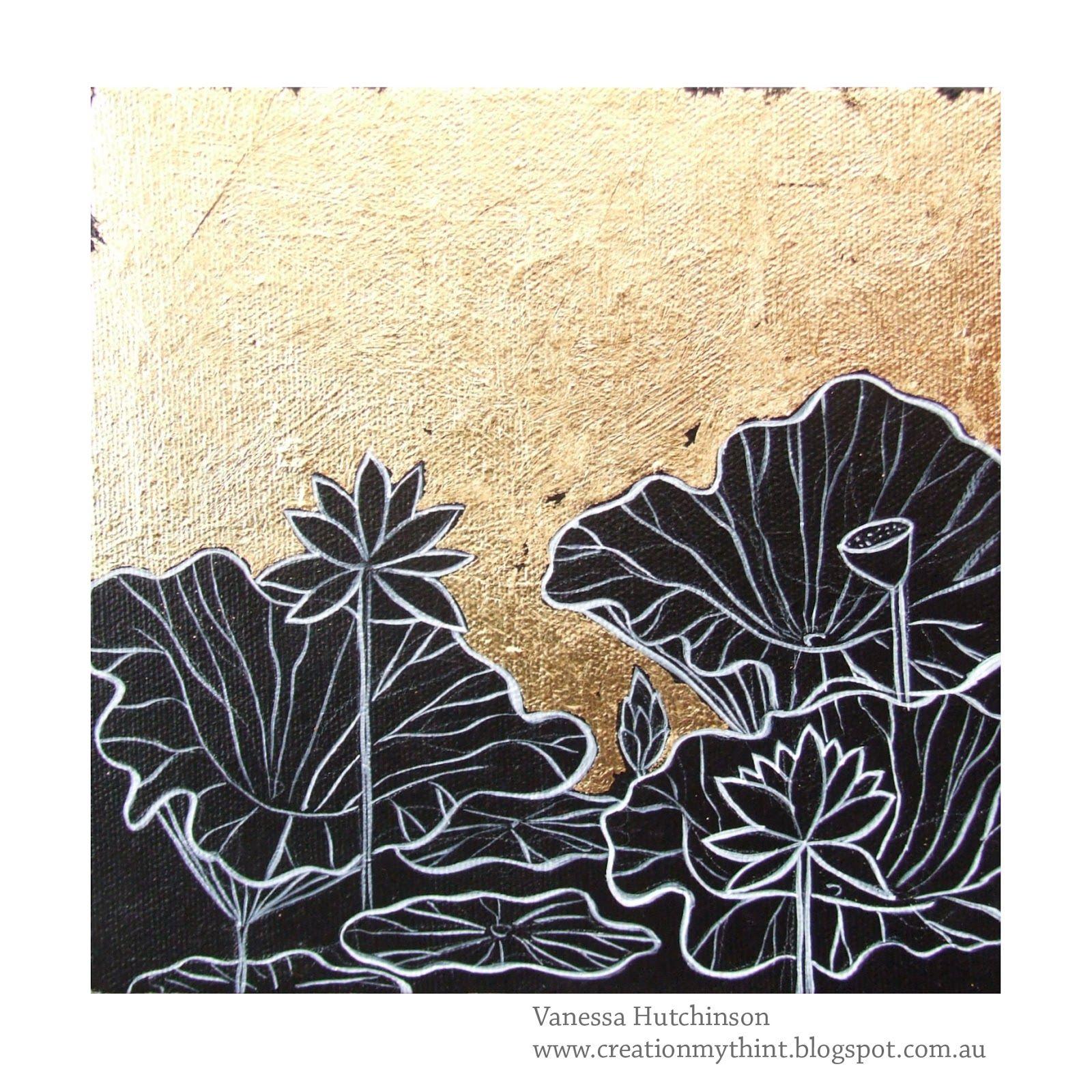 Painting by vanessa hutchinson lotus painting lotus