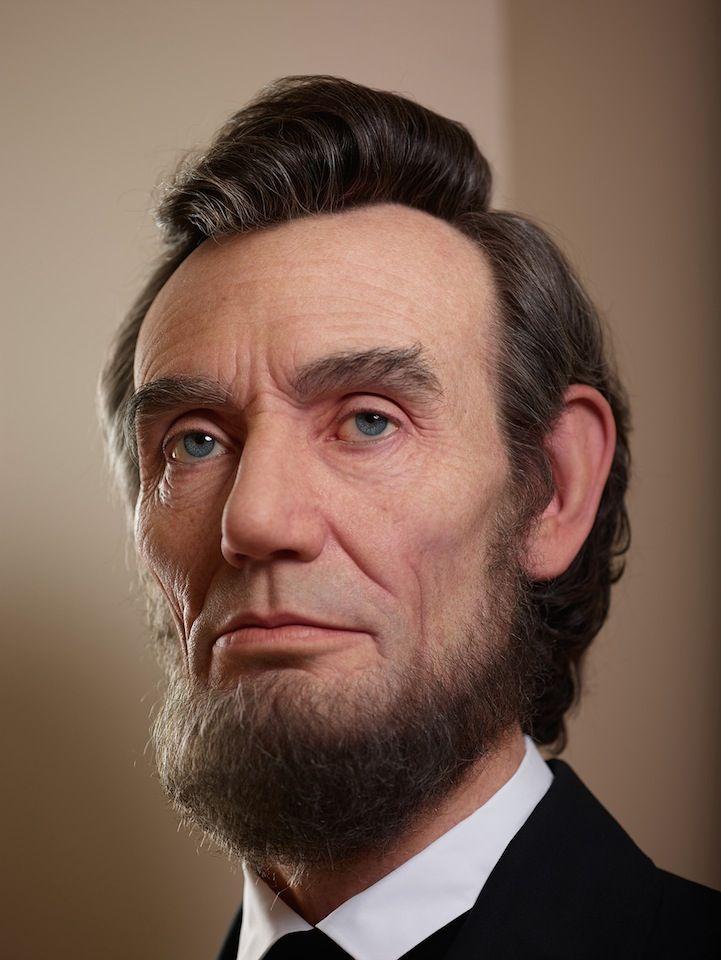 Отвратительная реалистичная скульптура изображающая Авраама Линкольна разработана специалистом по голливудским спецэффектам