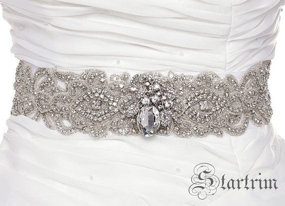IRINE Wedding bridal crystal sash belt por startrim en Etsy, $155.00 ...