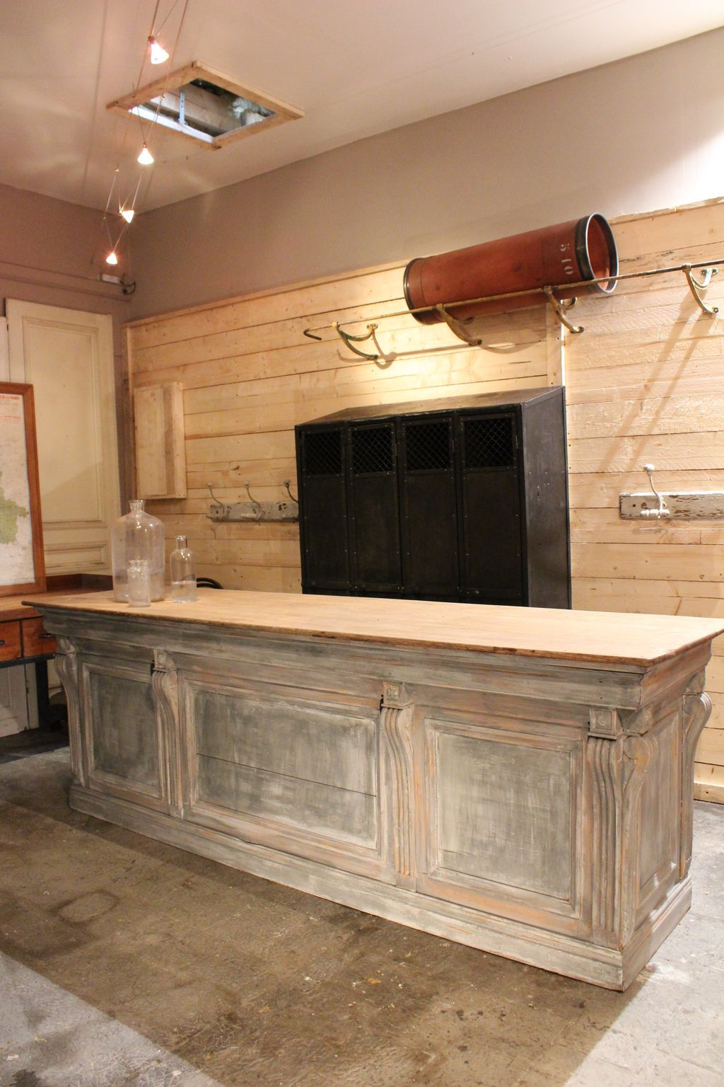 Mobilier Industriel Counter Trade Kitchen Island Pinterest