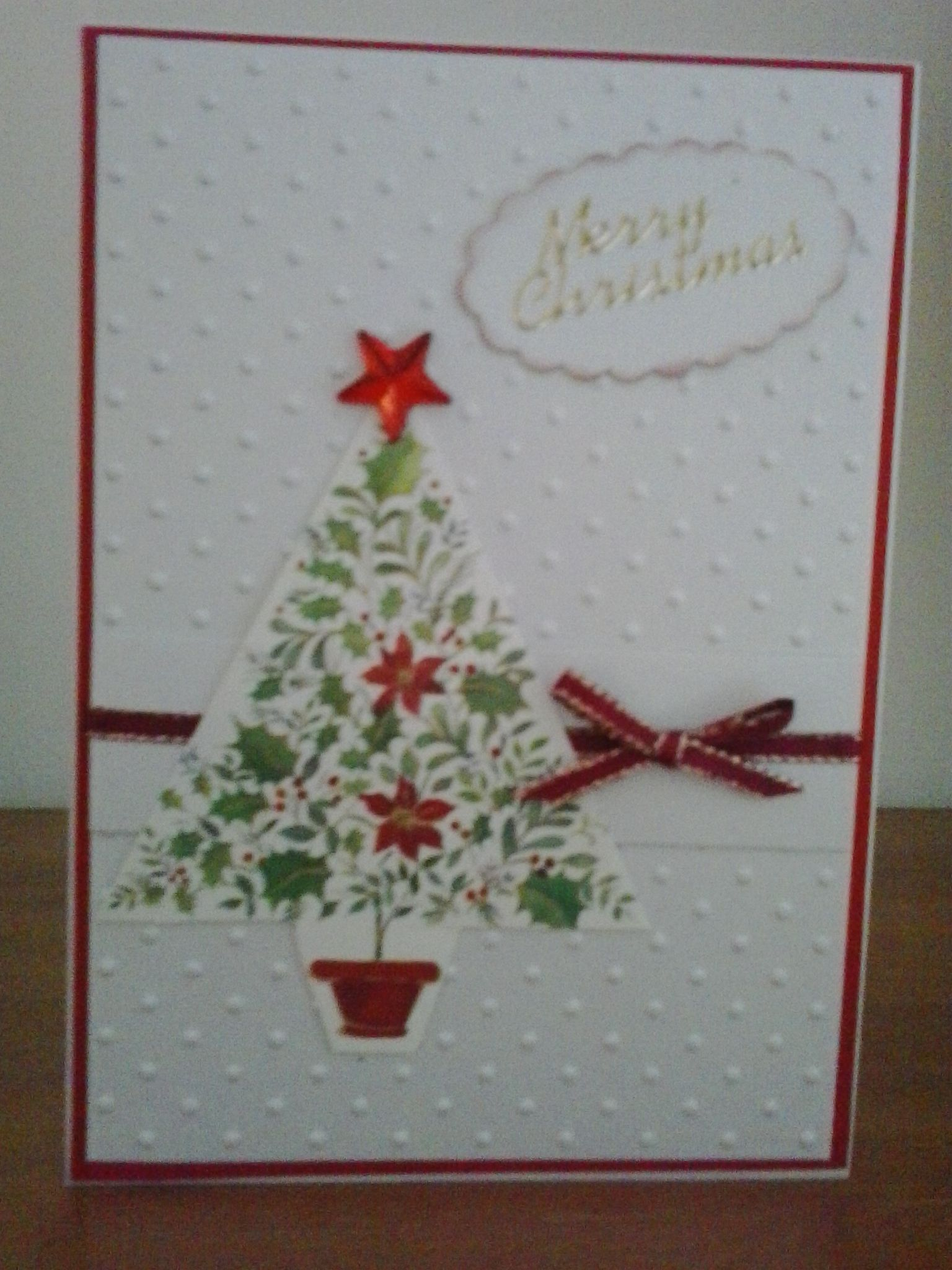 Simple Christmas Cards Embossed Background Christmas Cards
