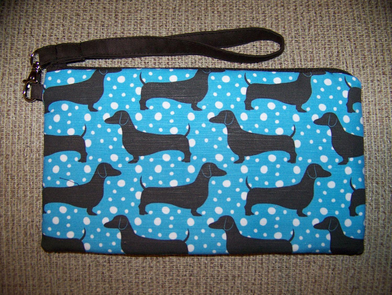 New Design Clutch/Wristlet  Blue Polka Dots by OscarsCreations, $38.00