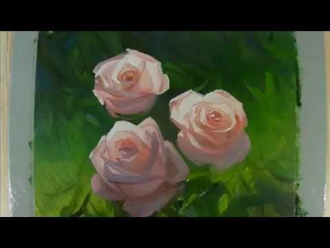 Pintar Rosas al oleo